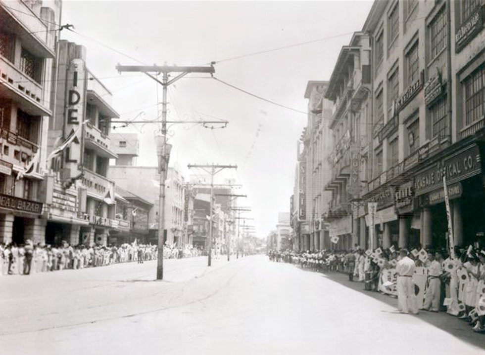 Japanese military parade down Rizal Ave., 1942